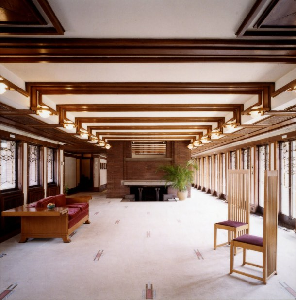 Virginia Duran Blog- Chicago Best Buildings for Architects - Robie House by Frank Lloyd Wright Interior