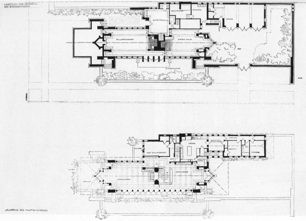 Virginia Duran Blog- Chicago Best Buildings for Architects - Robie House by Frank Lloyd Wright Plans