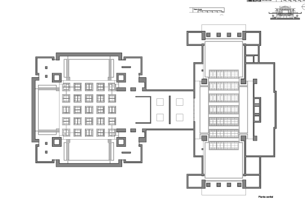 Virginia Duran Blog- Chicago Best Buildings for Architects - Unity Temple by Frank Lloyd Wright Plan