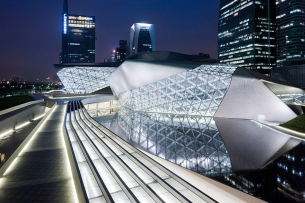 Virginia Duran Blog- Photography 10 Great Buildings Under Construction- Guangzhou Opera House by Zaha Hadid Architects 1
