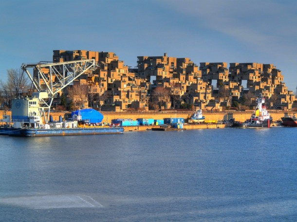 Virginia Duran Blog- Photography 10 Great Buildings Under Construction- Moshde Safdie Habitat 67 exterior