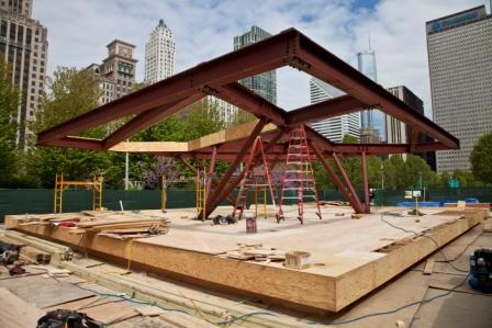 Virginia Duran Blog- Photography 10 Great Buildings Under Construction- UN Studio Pavilion Chicago 2