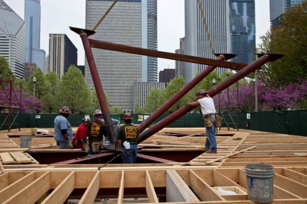 Virginia Duran Blog- Photography 10 Great Buildings Under Construction- UN Studio Pavilion Chicago
