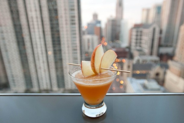 Virginia Duran Blog- Chicago Best Skyline Views- Vertigo Sky Lounge Drink