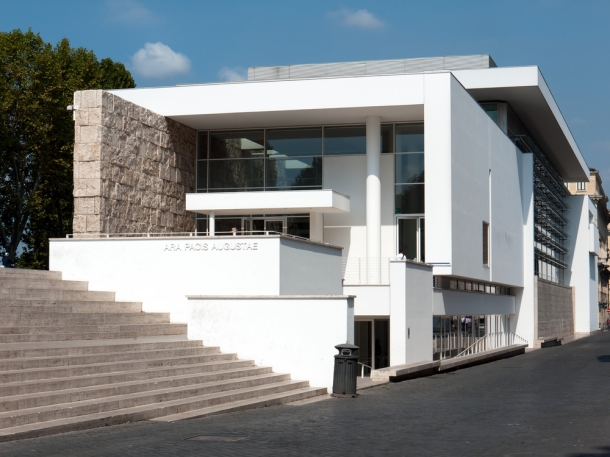 Virginia Duran Blog- The 8 Newest Buildings of Rome- Ara Pacis Museum by Richard Meier (2005) Exterior