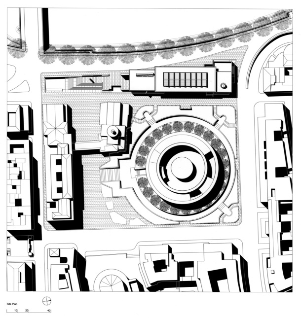 Virginia Duran Blog- The 8 Newest Buildings of Rome- Ara Pacis Museum by Richard Meier (2005) Floor Plan