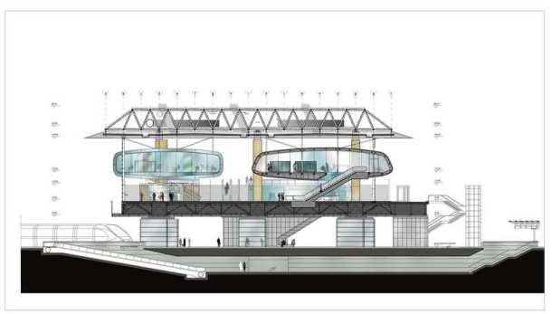 Virginia Duran Blog- The 8 Newest Buildings of Rome- New Triburtina Station by Paolo Desidery- Section