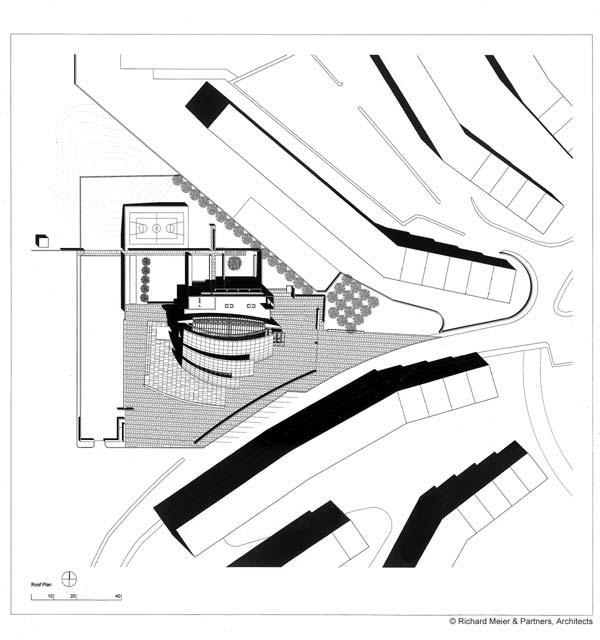 Virginia Duran Blog- The 8 Newest Buildings of Rome- Parrocchia Dio Padre Misericordioso by Richard Meier Floor Plan