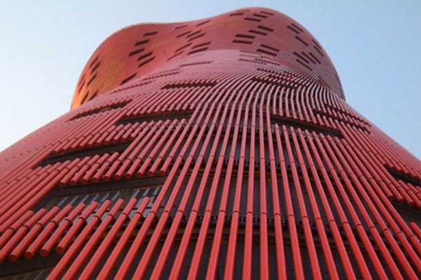Virginia Duran Blog- Amazing and Colorful Buildings- Hotel in Barcelona by Toyo Ito Detail