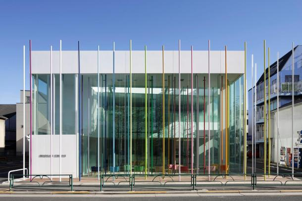 Virginia Duran Blog- Amazing and Colorful Buildings- Sugamo Shinkin Bank, Ekoda Branch by Emmanuelle Moureaux Architecture + Design
