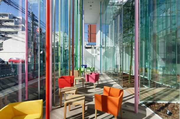 Virginia Duran Blog- Amazing and Colorful Buildings- Sugamo Shinkin Bank, Ekoda Branch by Emmanuelle Moureaux Architecture + Design-