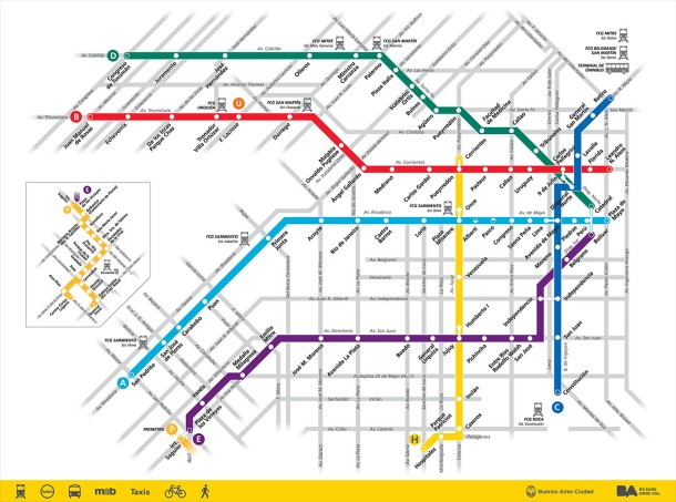 Virginia Duran Blog- Infographics- Subway Map- Buenos Aires