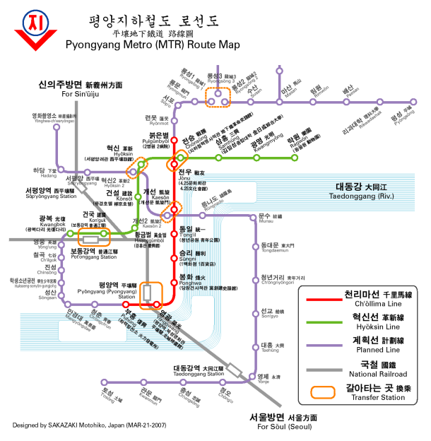 Virginia Duran Blog- Infographics- Subway Map- Pyongyang