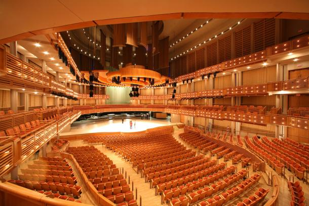 Virginia Duran Blog- 23 Spots You Shouldn't Miss in Miami If You Love Architecture- Adrienne Arsht Center for the Performing Arts by Cesar Pelli- Auditorium-