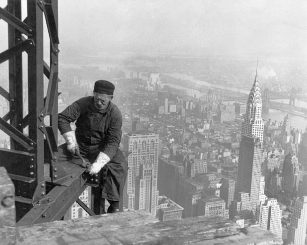 Virginia Duran Blog- Amazing Architectural Photography- J Lewis Hine -Framework of the Empire State Building 1931