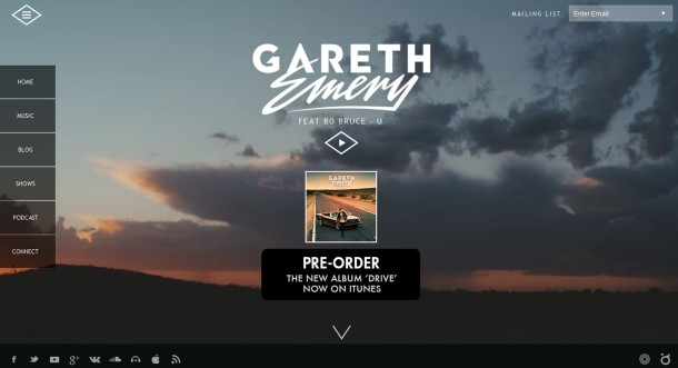 Virginia Duran Blog- Amazing UX UI Web Designs- Gareth Emery