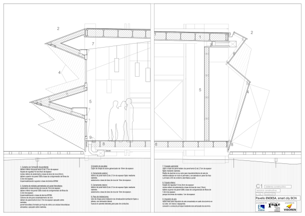 Virginia Duran Blog- Spanish Architecture- Barcelona- Endesa Pavilion- wall section