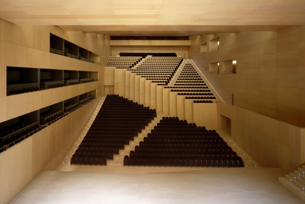Virginia Duran Blog- Spanish Architecture- Castellon- Palacio de Congresos- Carlos Ferrater- Interior Auditorium Space