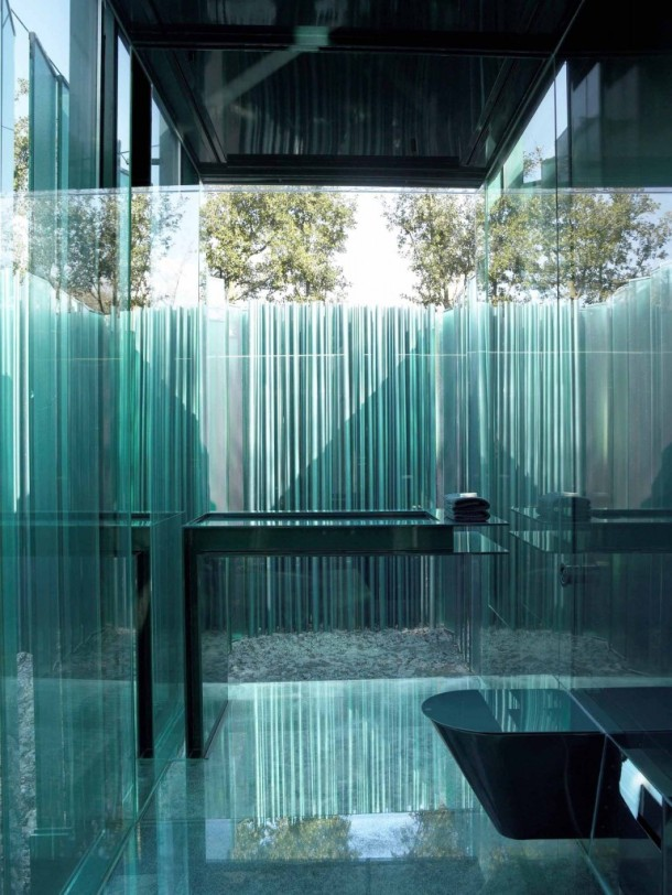 Virginia Duran Blog- Spanish Architecture- Girona- Les Cols Pavilions- RCR Arquitectes- Bathroom