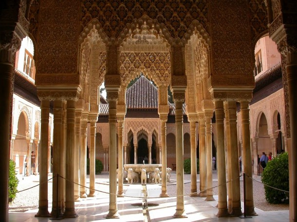 Virginia Duran Blog- Spanish Architecture- Granada- Alhambra- Patio Leones