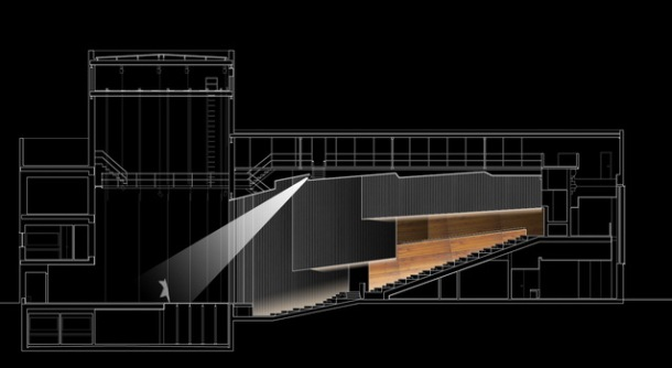 Virginia Duran Blog- Spanish Architecture- Huelva- Teatro Almonte en Huelva by Donaire Arquitectos-Section