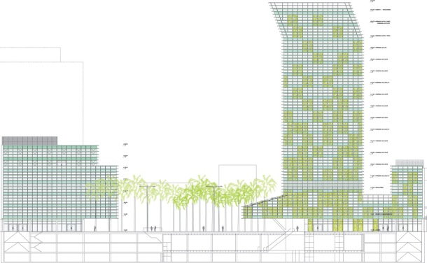 Virginia Duran Blog- Spanish Architecture- Las Palmas- Plaza y Torre Woermann, Las Palmas de Gran Canaria - Abalos y Herreros- Elevation