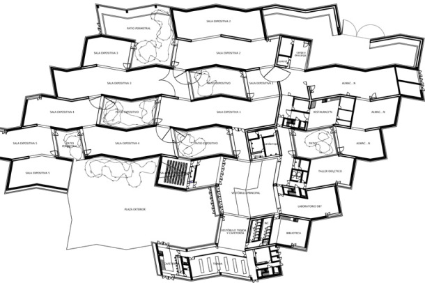 Virginia Duran Blog- Spanish Architecture- Leon- MUSAC- Floor Plan