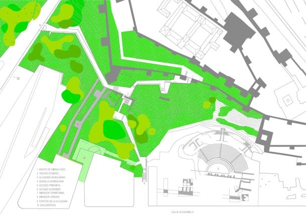 Virginia Duran Blog- Spanish Architecture- Malaga- Rehabilitación paisajística de los accesos a la Alcazaba by OAM Plan