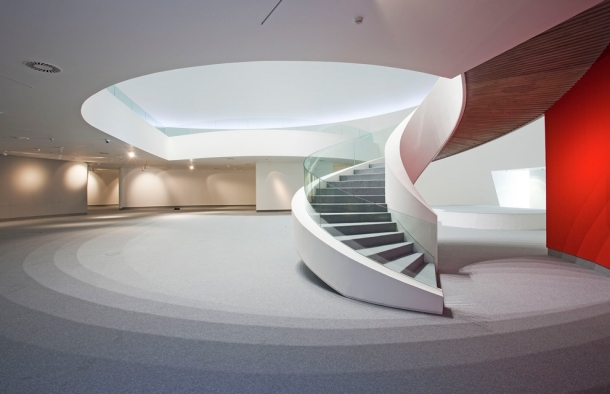 Virginia Duran Blog- Spanish Architecture- Asturias- Centro Cultural Niemeyer by Oscar Niemeyer- Interior