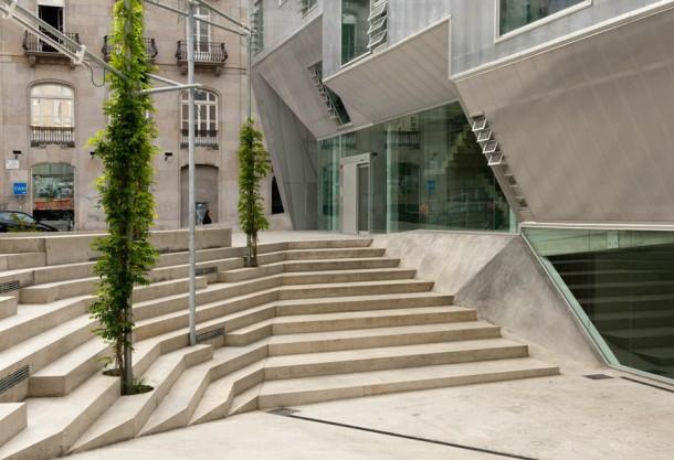 Virginia Duran Blog- Spanish Architecture- Pontevedra- Colegio de Arquitectos de Vigo- Stair Detail