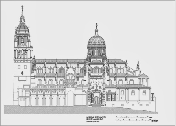 Virginia Duran Blog- Spanish Architecture- Salamanca- Cathedral- Elevation