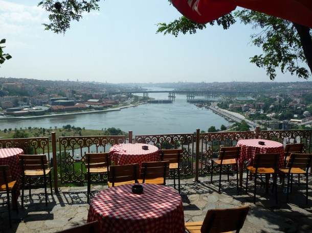 Virginia Duran Blog- 10 Sites To Take The Best Skyline Pictures in Istanbul- Pierre Loti Cafe- Table