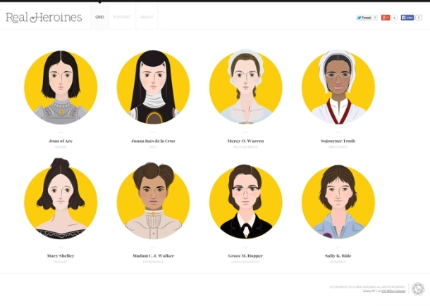 Virginia Duran Blog- Beautiful and minimalistic Websites-Real Heroines