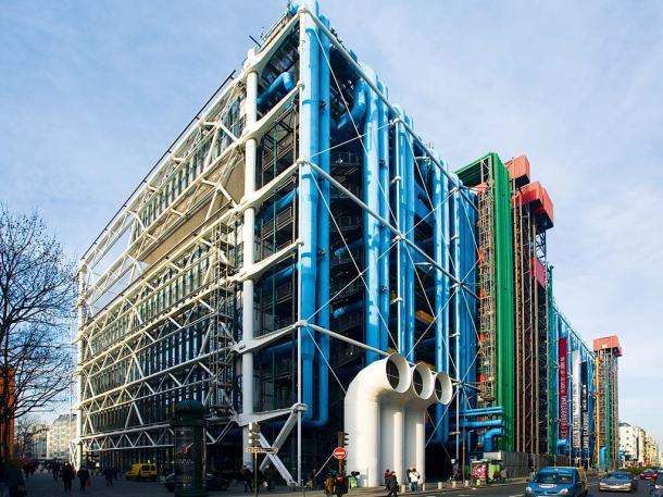 Virginia Duran Blog-Buildings in Paris if you Love Architecture-Centre Georges Pompidou- Renzo Piano-back