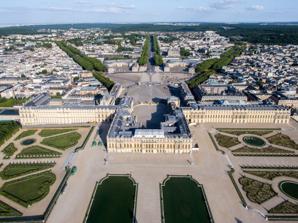 Virginia Duran Blog-Buildings in Paris if you Love Architecture- Palace of Versailles-aerial