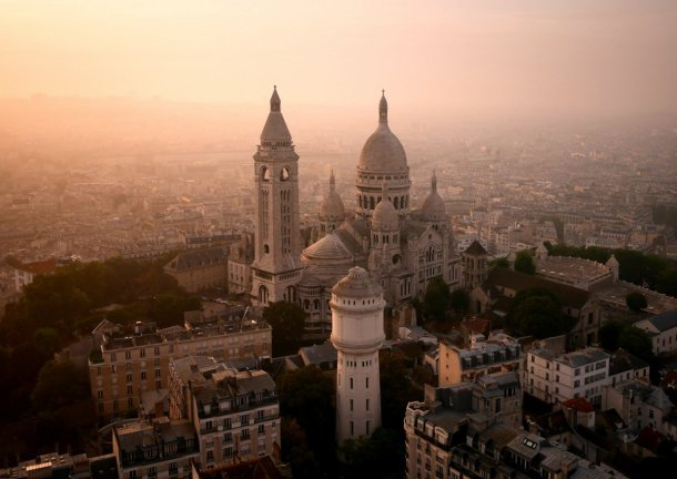 Virginia Duran Blog-Buildings in Paris if you Love Architecture- Sacre Coeur-picture from drone