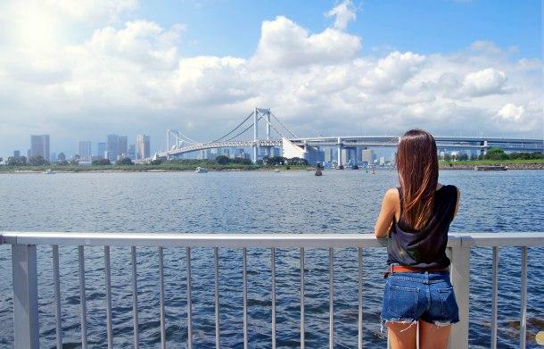 Virginia Duran Blog-Best sites to take Skyline Pictures in TOKYO-Odaiba Beach