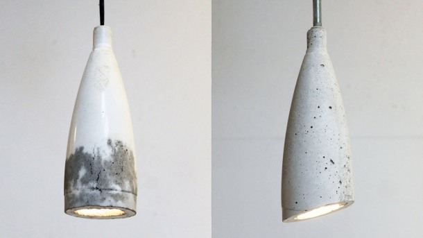 Virginia Duran Blog- 12 Cool Concrete and Cement DIY Designs- Cement Lamp