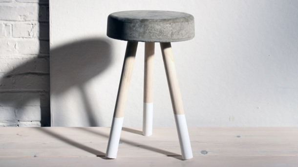 Virginia Duran Blog- 12 Cool Concrete and Cement DIY Designs- Stool