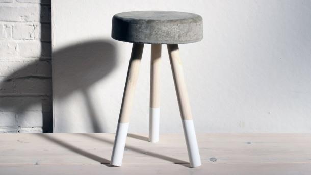 Virginia Duran Blog- 12 Cool Concrete and Cement DIY Designs- Stool