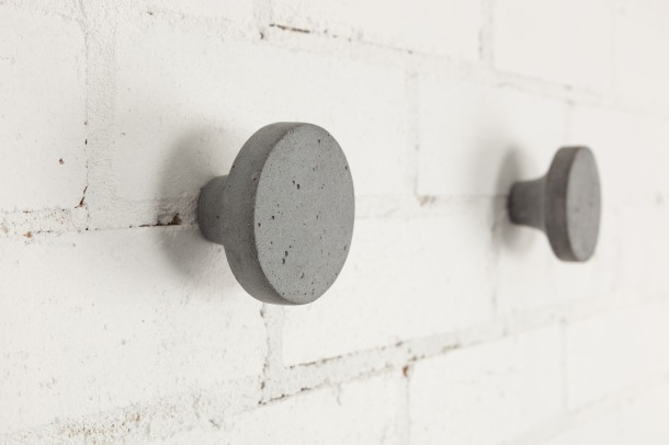 Virginia Duran Blog- 12 Cool Concrete and Cement DIY Designs- Wall Hooks