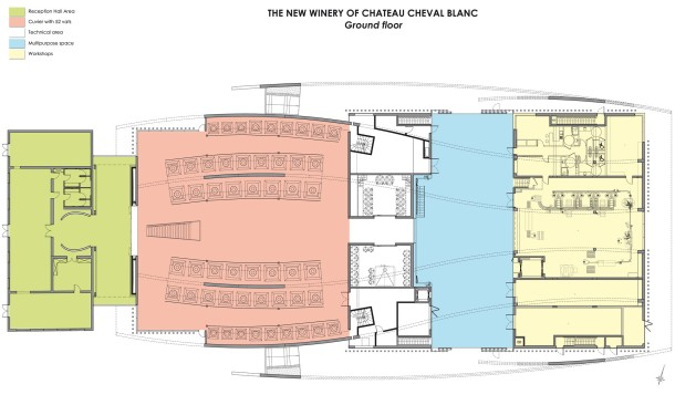 Virginia Duran Blog- Architecturally Amazing Wineries- Cheval Blanc by Christian de Portmanzac-Floor plan