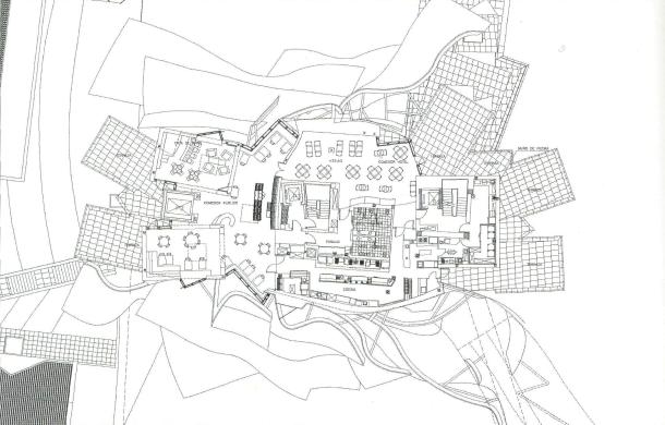 Virginia Duran Blog- Architecturally Amazing Wineries- Marques de Riscal by Frank Gehry-floor plan