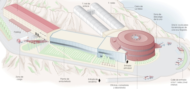 Virginia Duran Blog- Architecturally Amazing Wineries- Vina Real by Philippe Mazieres- axonometry plan