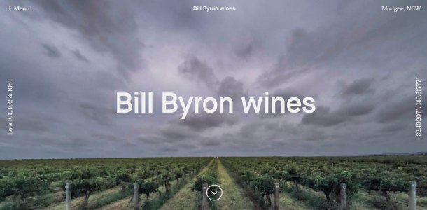 Virginia Duran Blog- 12 Beautiful Websites With Video Backgrounds- Billy Byron Wines