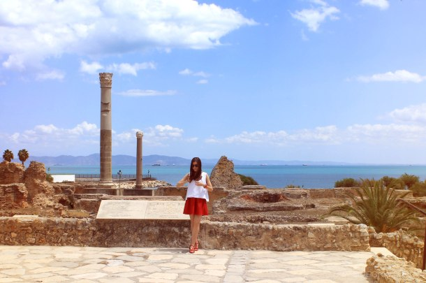 virginia-duran-tunisia-cartague-roman-ruins-wallpaper-red-skirt