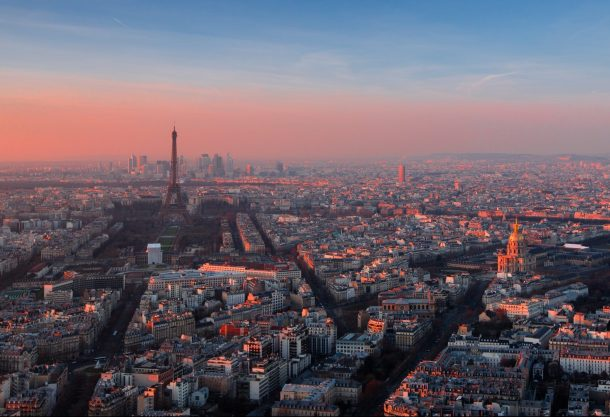 Paris skyline from Montparnasse