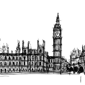 London crowds – a sketch