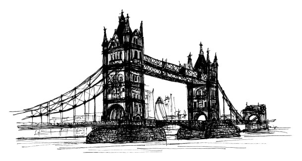 Tower Bridge London Sketch