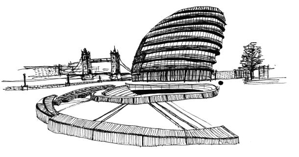 London City Hall drawing